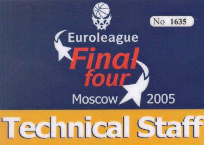 Championships Euroleague 2005