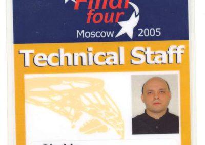 Championships Euroleague 2005 a