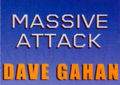 Dave Gahan Massive Attack 2003