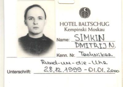 Hotel Baltschug 1999