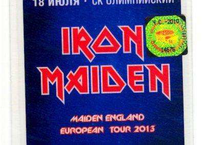 Iron Maiden Staff Msk 2013